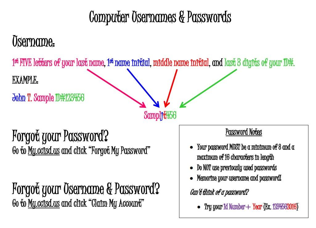 Student Passwords