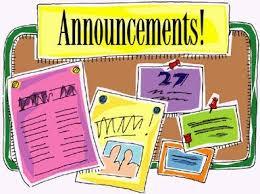Announcements Pin Board