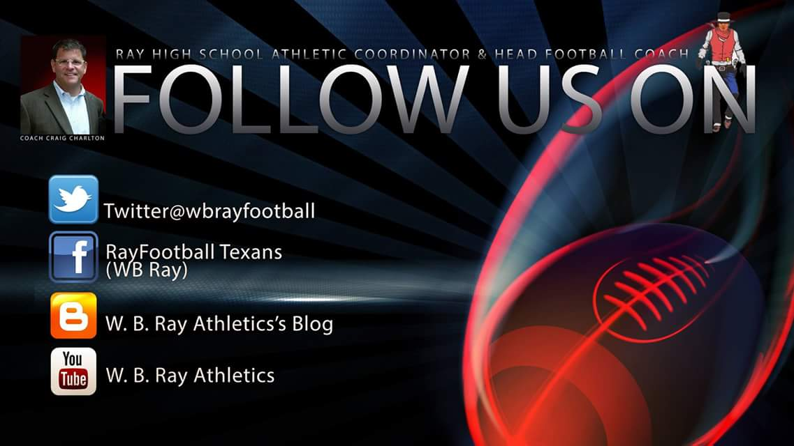 Ray High School Football, Follow us on Social Media