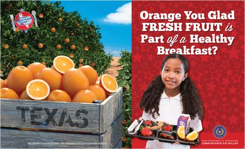Orange you glad fresh fruit is part of a healthy breakfast?